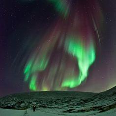 Aurora boreal! Preciosa