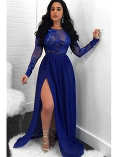 Unique Prom Dresses, Charming A Line Side Slit Long Sleeves Chiffon Royal Blue See Through Prom Dresses 2020 CoBridal Unique Prom Dresses, Charming A Line Side Slit Long Sleeves Chiffon Royal Blue See Through Prom Dresses 2020 CoBridal <br> Sequin Prom Dresses, Unique Prom Dresses, Sexy Dresses, Royal Blue Prom Dresses, Dark Blue Dresses, Wedding Dresses, Royal Blue Party Dress, Plus Size Prom Dresses, Lace Dresses
