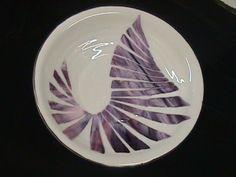 Slumped Bullseye bowl with streaky decoration Decorative Plates, Decoration, Tableware, Inspiration, Decor, Biblical Inspiration, Dinnerware, Tablewares, Decorations