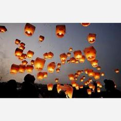 We Fly these Chinese lanterns off ever year for halloween at my house:)