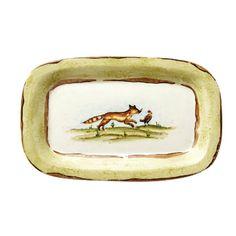 Wildlife Wall Plate - Small Rectangular Fox by Vietri