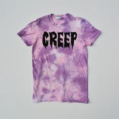 Pastel Goth Creep Pink Tie Dye Unisex T-shirt Hipster Indie Hype Mens Womens Kawaii Crescent Moon Gothic by IIMVCLOTHING on Etsy