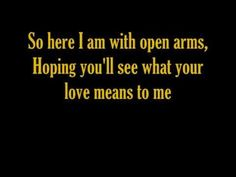 """"""" OPEN ARMS """" = JOURNEY ( with lyrics ) :    Check out the the Journey playlist and sing-a-long:  http://www.youtube.com/playlist?list=PLB922C3E827D7C790     Enjoy    Karaoke"""