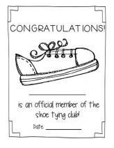 Shoe Tying Awards - I hate tying shoes! Classroom Fun, Classroom Organization, Classroom Management, Self Help Skills, Life Skills, Learning Time, Learning Activities, Teaching Ideas, School Ot