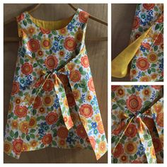 Boho/Hippie Retro Style Wrap Dress, size 3t by SewMeems on Etsy