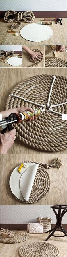 Alfombra DIY con cuerda - marrietta.ru - DIY Rope Carpet