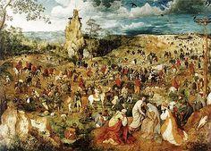 Venerdì Santo: la Salita al Calvario, Bruegel il Vecchio.