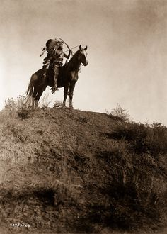 1908  An Apsaroke man on horseback.  IMAGE: EDWARD S. CURTIS/LIBRARY OF CONGRESS
