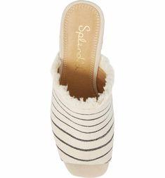 4075e5dd0d6 Main Image - Splendid Baron Fringed Block Heel Slide (Women) Baron
