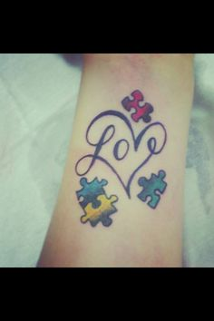 Love love love this tattoo!  Autism love!