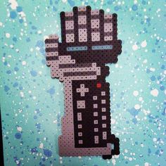 Nintendo Power Glove perler beads by jaynechains