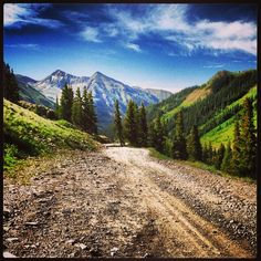 The road to the ghost town of Animas Forks, Colorado- We road down this road on a jeep tour ride.