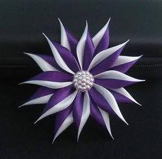 Květ - saténová spona do vlasů * ribbon