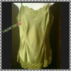 OLIVE YOU TOP CHANGE FROM DAY TO NIGHT FEELS LIKE SILK, BE LACEY AND SEXY AND CLASSY AT THE SAME TIME THIS IS A TIMELESS PIECE Adjustable Straps Caslon Tops