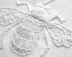 Bee whitework embroidery kit by sarahhomfray on Etsy