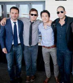 Andrew Lincoln, Norman Reedus, Steven Yeun, & Jon Bernthal