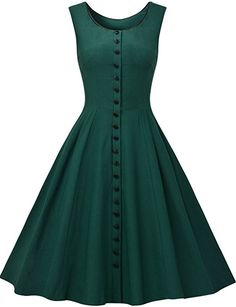 MissMay Women's Audrey Hepburn Sleeveless Retro Swing Rockabilly Evening Dress at Amazon Women's Clothing store: