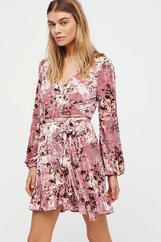 Fall Crush Wrap Dress