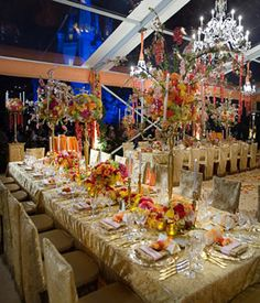 Colorful Disney World Ballroom Decor . Event Planner David Tutera%u2019s wedding reception fantasy beckons guests.