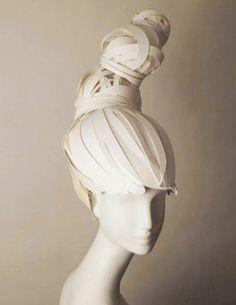 No aqua net required. Paper cut wig installation by Nikki Salk & Amy Flurry.