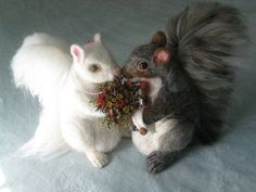 Wedding Cake Toppers~Needle Felted Squirrels by Gourmet Felted by Gourmet Felted, via Flickr