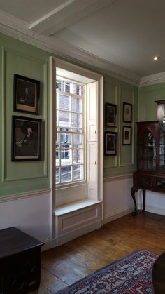 Interior of late 18th century Georgian townhouse, former home of Dr Samuel Johnson showing original panelling. Grade 1 listed
