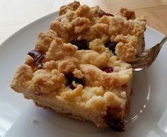 Rezept Kirsch/Apfel-Streuselkuchen mit Quark vom Blech von Sunandfun - Rezept der Kategorie Backen süß