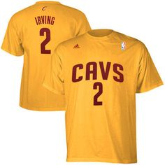Rep one of the most talented point guards in the league with this Kyrie Irving Cleveland Cavaliers adidas Gold Net Number T-Shirts. Kyrie has had no problems making the transition to the NBA and is al
