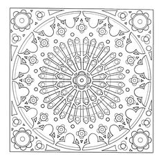 I'm sure you've all seen incredible mandala designs before, but are you actually aware of the meaning and history behind these complex works of art? The word mandala comes from the classical Indian language, Sanskrit, Doodle Coloring, Mandala Coloring Pages, Coloring Book Pages, Free Coloring, Coloring Sheets, Doodles Zentangles, Zentangle Patterns, Colorful Drawings, Colorful Pictures