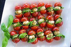 Tomaten - Mozzarella - Spieße