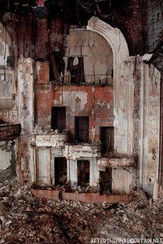 Box seats in derelict Paramount Theatre - Newark, New Jersey