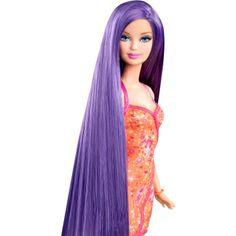 BARBIE® BLACK-PURPLE LONG HAIR DOLL 3 - Shop.Mattel.com