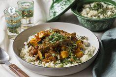 Tajine de Bœuf aux Légumes et Couscous de Chou-fleur Couscous, Curry, Ethnic Recipes, Food, Sprouts, Kitchens, Curries, Essen, Meals