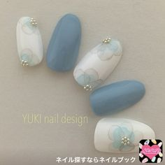 Nails blue pastel art designs Ideas for 2019 Hair And Nails, My Nails, Floral Nail Art, Japanese Nails, Manicure E Pedicure, Beautiful Nail Art, Blue Nails, Nail Arts, Nails Inspiration