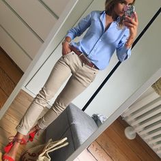 Basic Look ✔️ Source by sabykadic shoes outfit Summer Work Outfits, Casual Work Outfits, Business Casual Outfits, Professional Outfits, Office Outfits, Classy Outfits, Tomboy Outfits, Mode Outfits, Chic Outfits