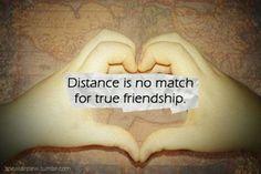 Distance is no match for true friendship