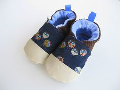 Sleepy Owls  Durable Soft Sole Shoes