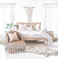Uniqwa's Strand Bed in French oak covered in beautiful linen bedding ✨ We love dreamy bedrooms filled with organic tones ?✨ ➳ Also featuring our Mele Stool making the perfect bedside table with our ➳ Inkosi Vases available in three sizes, ➳ Bindu Bask Home Bedroom, Master Bedroom, Bedroom Decor, Bedroom Ideas, Bedroom Designs, Oak Bedroom Furniture, Furniture Design, Mission Furniture, Furniture Buyers