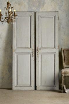 Loire River Doors - Vintage Paneled Doors, French Paneled Doors, Aged Wood Doors | Soft Surroundings