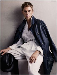 24cafbbece69 Giorgio Armani Highlights Soft Tailoring for Spring Summer 2015 Men s  Campaign