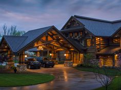 Lodge Style Living- Rocky Mountain Homes rustic-garage-and-shed House In The Woods, My House, Log Home Plans, Barn Plans, Log Home Decorating, Lodge Style, Log Cabin Homes, Log Cabins, Mountain Homes