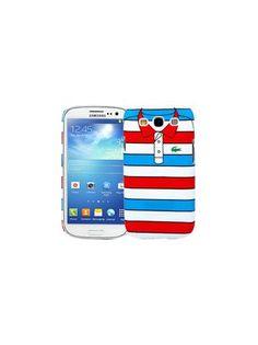 """Kawaii Factory Чехол для Samsung Galaxy S3 """"Red with blue stripes"""", серия """"Sports shirt""""  — 290 руб. —  Чехол для телефона - не просто средство защиты Вашего гаджета от царапин и внешних повреждений, но и модный аксессуар, который сделает Ваш образ завершенным. Подходит для Samsung Galaxy S3."""