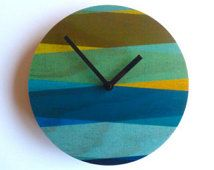Objectify Retro Textile Wall Clock