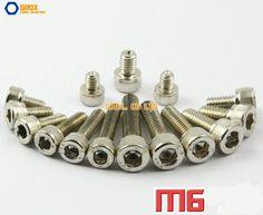 M6  Nickel Plated Allen Bolt Hex Socket Cap Screw 12.9 Grade Alloy Steel #Affiliate