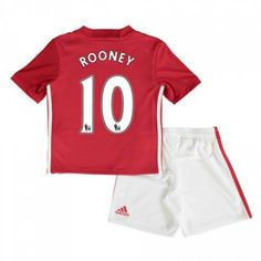 9c3d9d377ed8 Manchester United Trøje Børn 16-17 Wayne  Rooney 10 Hjemmebanetrøje Kort  ærmer,199