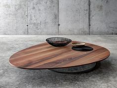Low wooden coffee table for living room SOGLIO - FIORONI