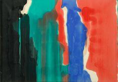 """Morris Louis, """"Addition VI"""" -Exposition USart Collection du musée // Art américain - Musée d'Art moderne et contemporain de Saint Etienne, 2014"""