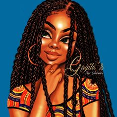 Cute little illustrations that I did for one of my clients hair extensions packaging. Black Love Art, Black Girl Art, My Black Is Beautiful, Black Girls Rock, Black Girl Magic, Art Girl, African American Art, African Art, African Drawings