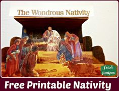 Free Printable Nativity - love this beautiful 3-D style nativity - remember the reason for the season!