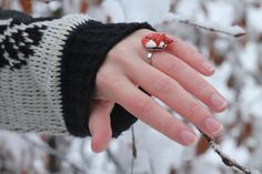 fox ring adjustable by Malizadesign on Etsy